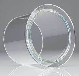 EVAC ISO Tapered™ glass flanges